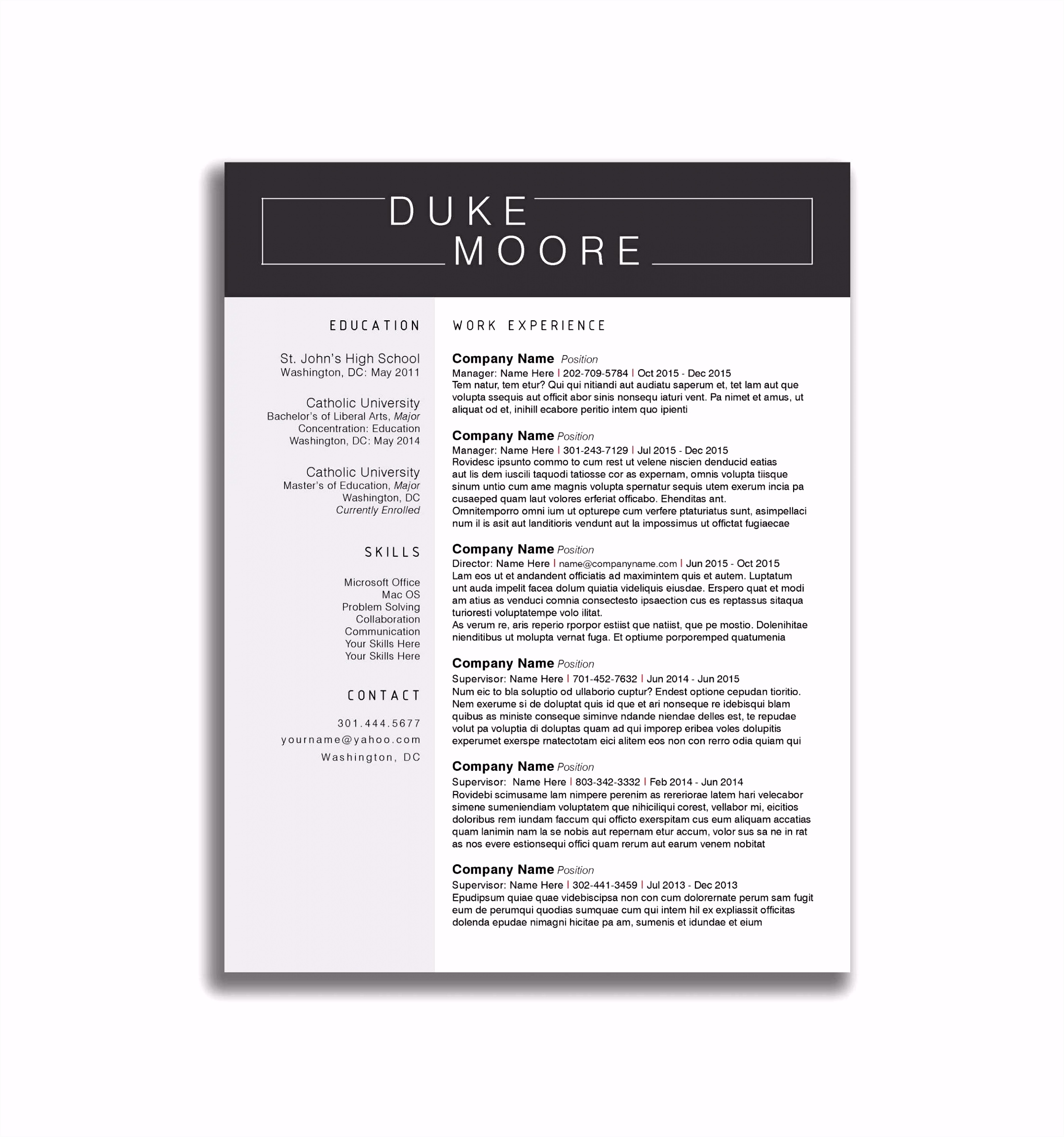 Unit by Design Template Luxury Unique Elegant Cv Design Templates