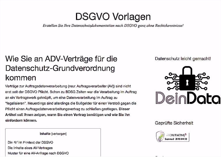 63 Niedliche Aufnahmen Der Dsgvo Vorlagen
