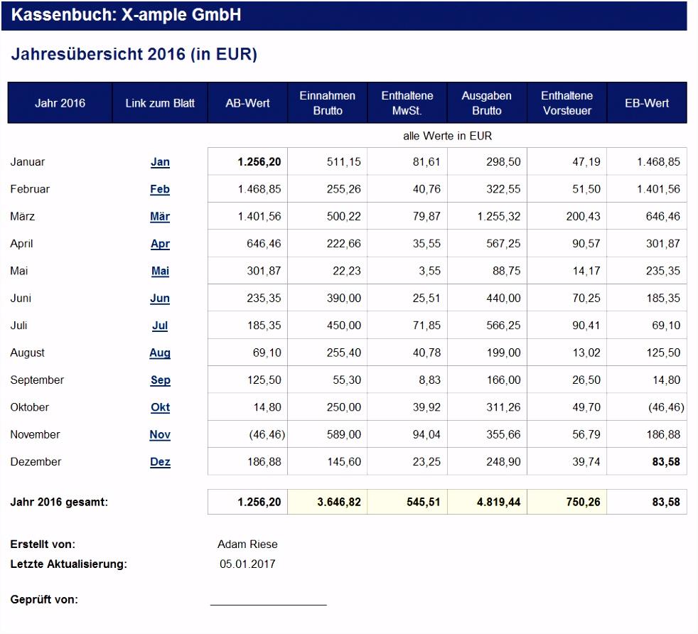Datev Kassenbuch Excel line Rechnung Vorlage