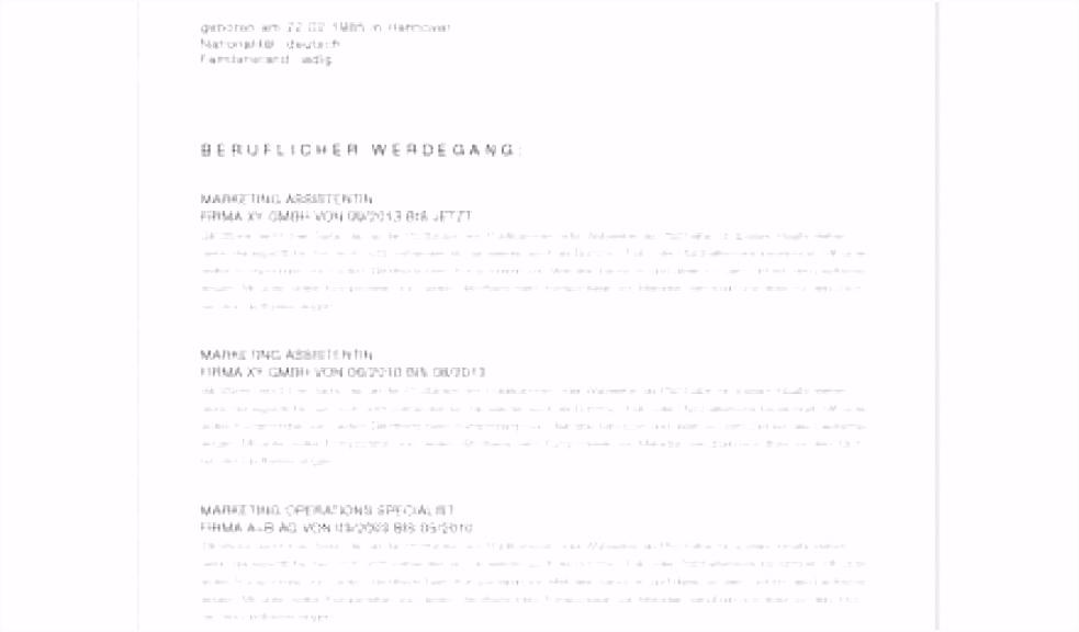 Frisches Portfolio Deckblatt