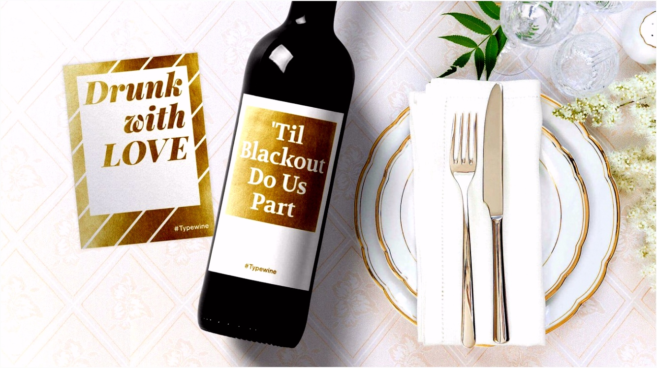 Etiketten Selbst Gestalten Hochzeit Weinflasche Etikett Vorlage