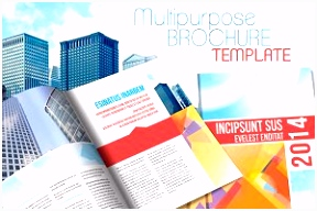 Tri fold Corporate Brochure Templates Creative Market