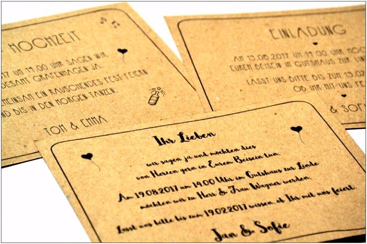 Hochzeit Einladung Selbst Gestalten