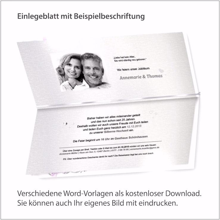 Einladung Hochzeit Text 10 Jahre Einladungen Silberhochzeit