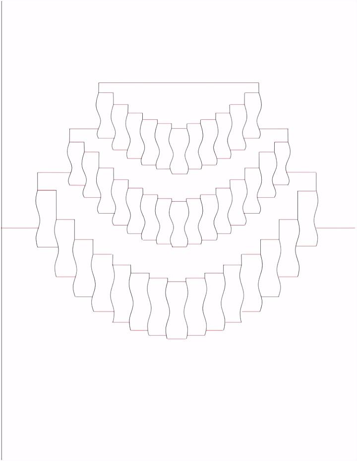 Kirigami Pop up Karte Torte Vorlage ausdrucken paper art