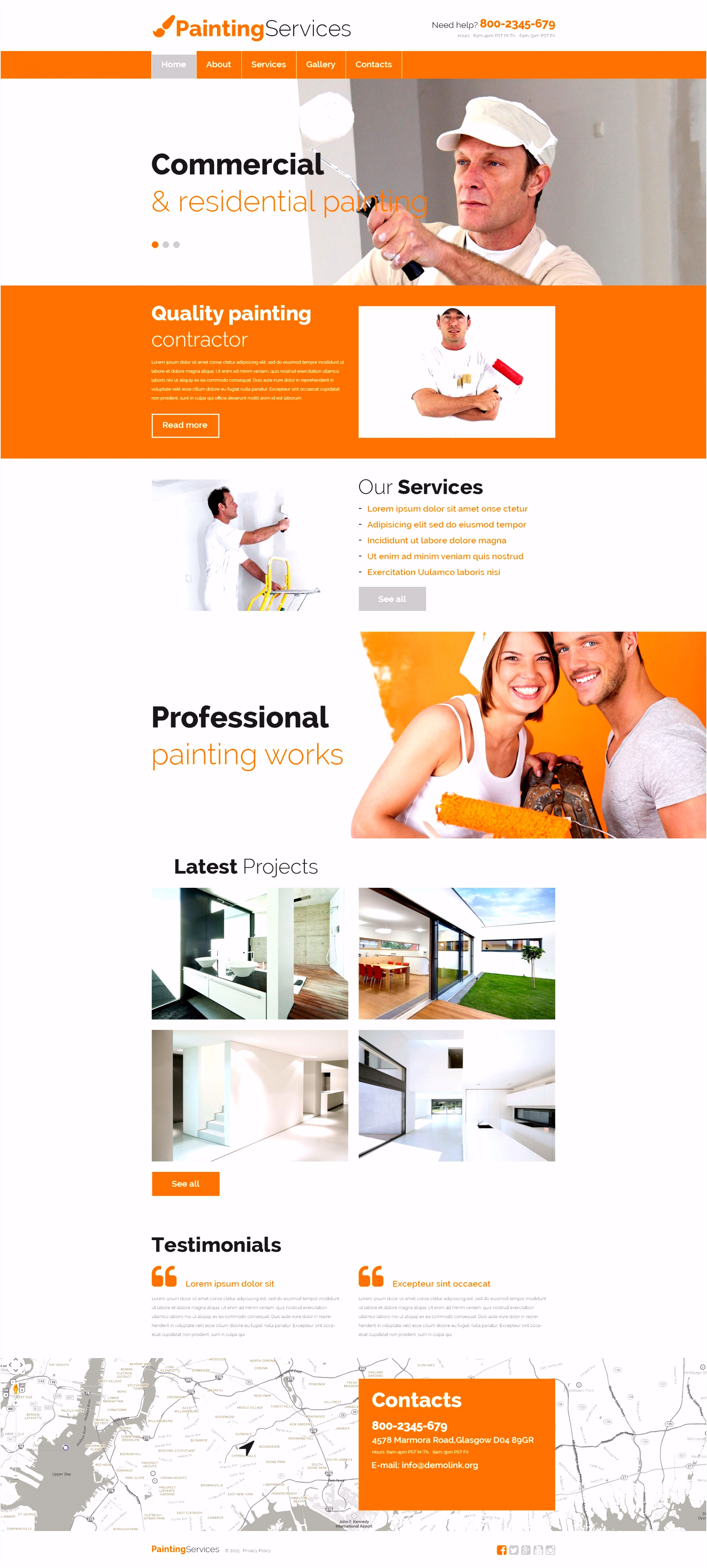 Website Vorlage für Malerbetrieb