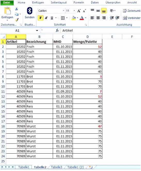 Wie Lege Ich Eine Excel Tabelle An