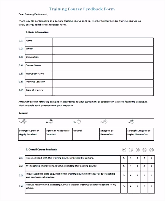 Workshop Evaluation form Free Download Conference Evaluation form