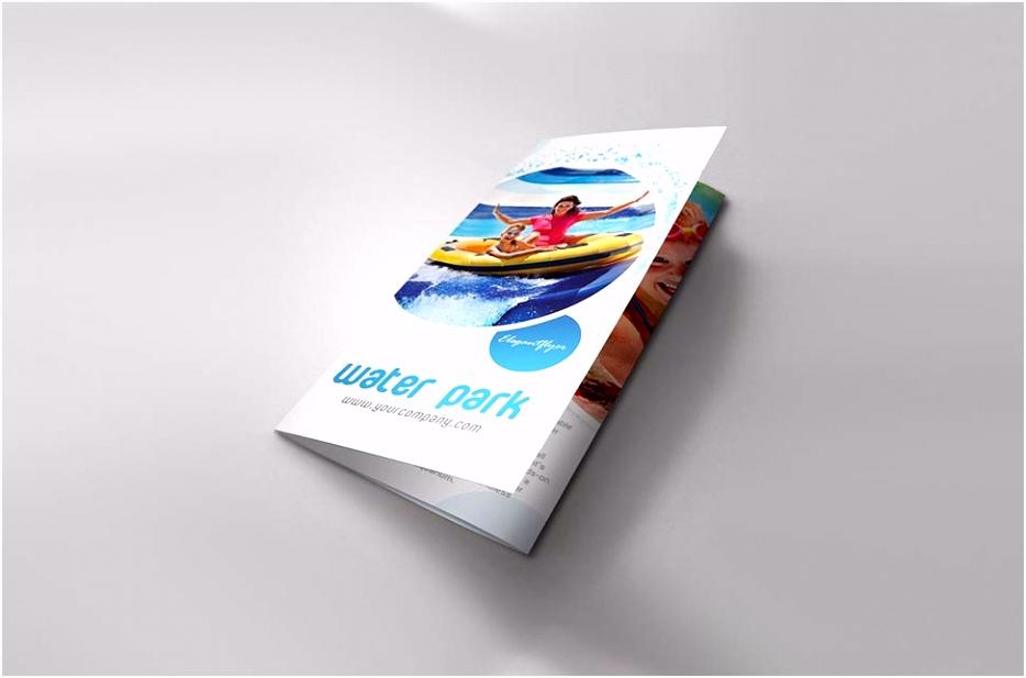 Set of Tri fold Brochure Mockups