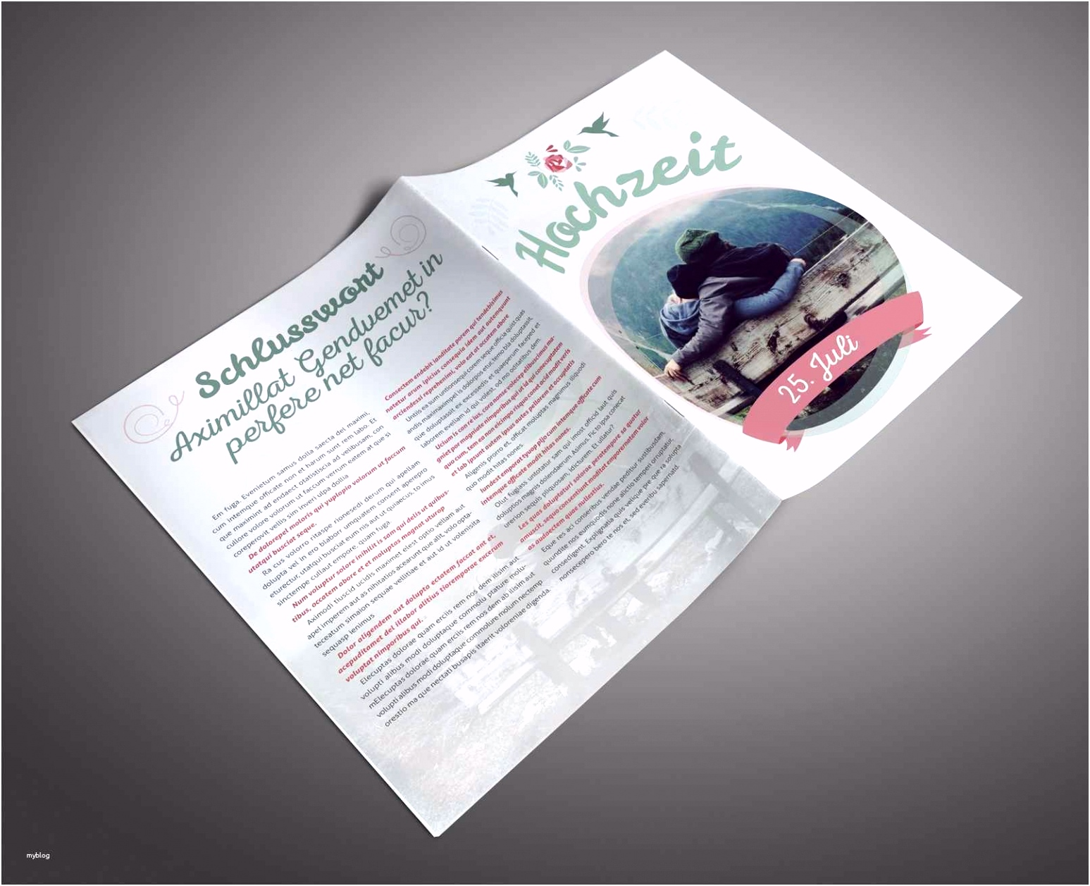 Präsentationsmappe Vorlage Indesign Erstaunlich Hochzeitszeitung