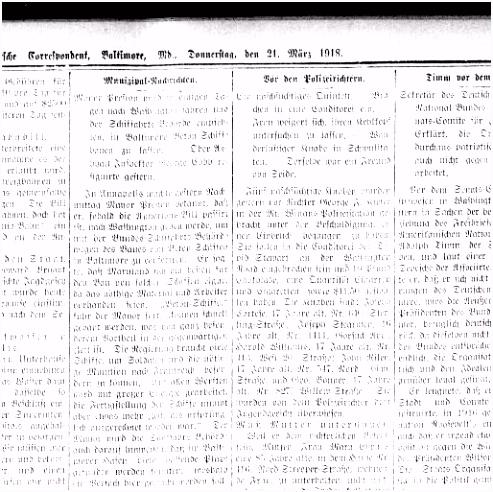 Der Deutsche correspondent Baltimore Md 1841 1918 March 21