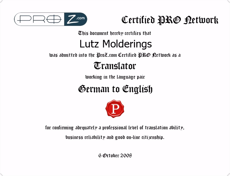 German to English translator specialising in engineering and