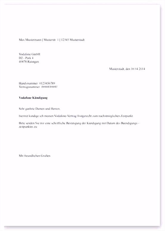 59 Beispiel Kündigung Vodafone Fax Das Neueste productdesignutah