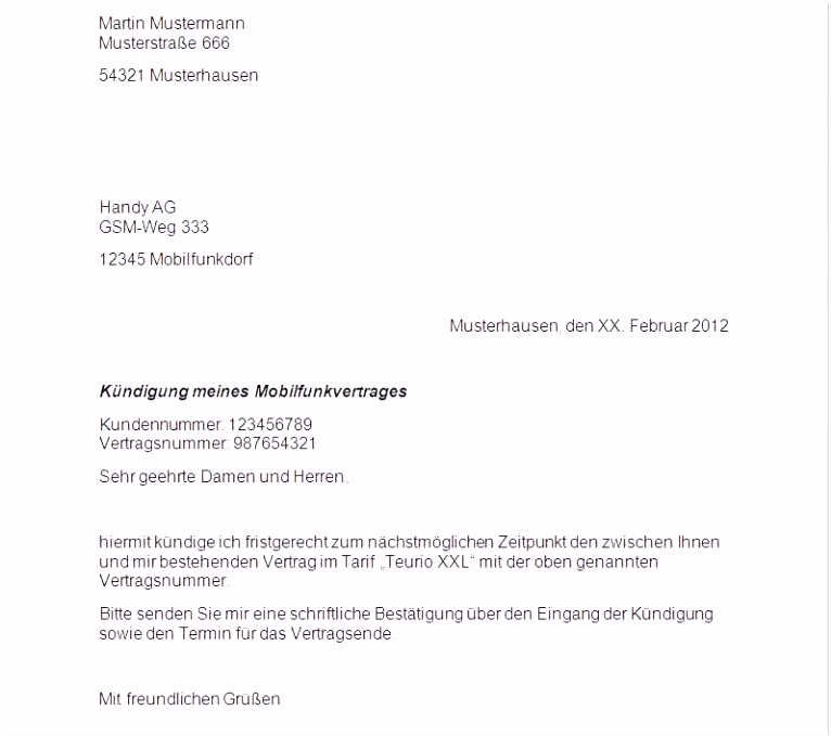 Einzigartiges Kündigung Vodafone Kabel Deutschland
