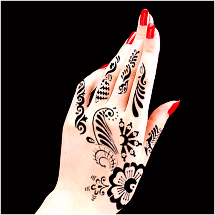 Body Hand Ink Tattoo Art India Henna Design Simply Stencil Mehndi