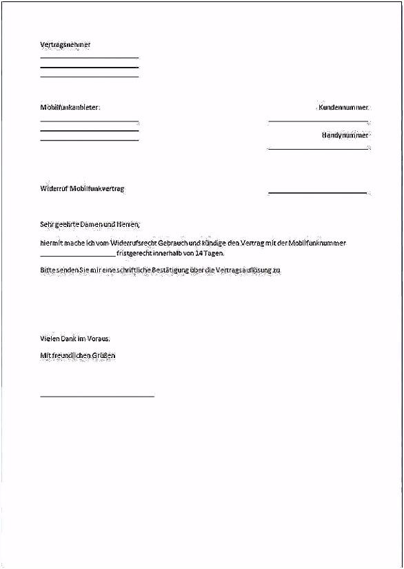Kundigung O2 Handyvertrag Muster O2 Kündigung Vorlage Download Chip