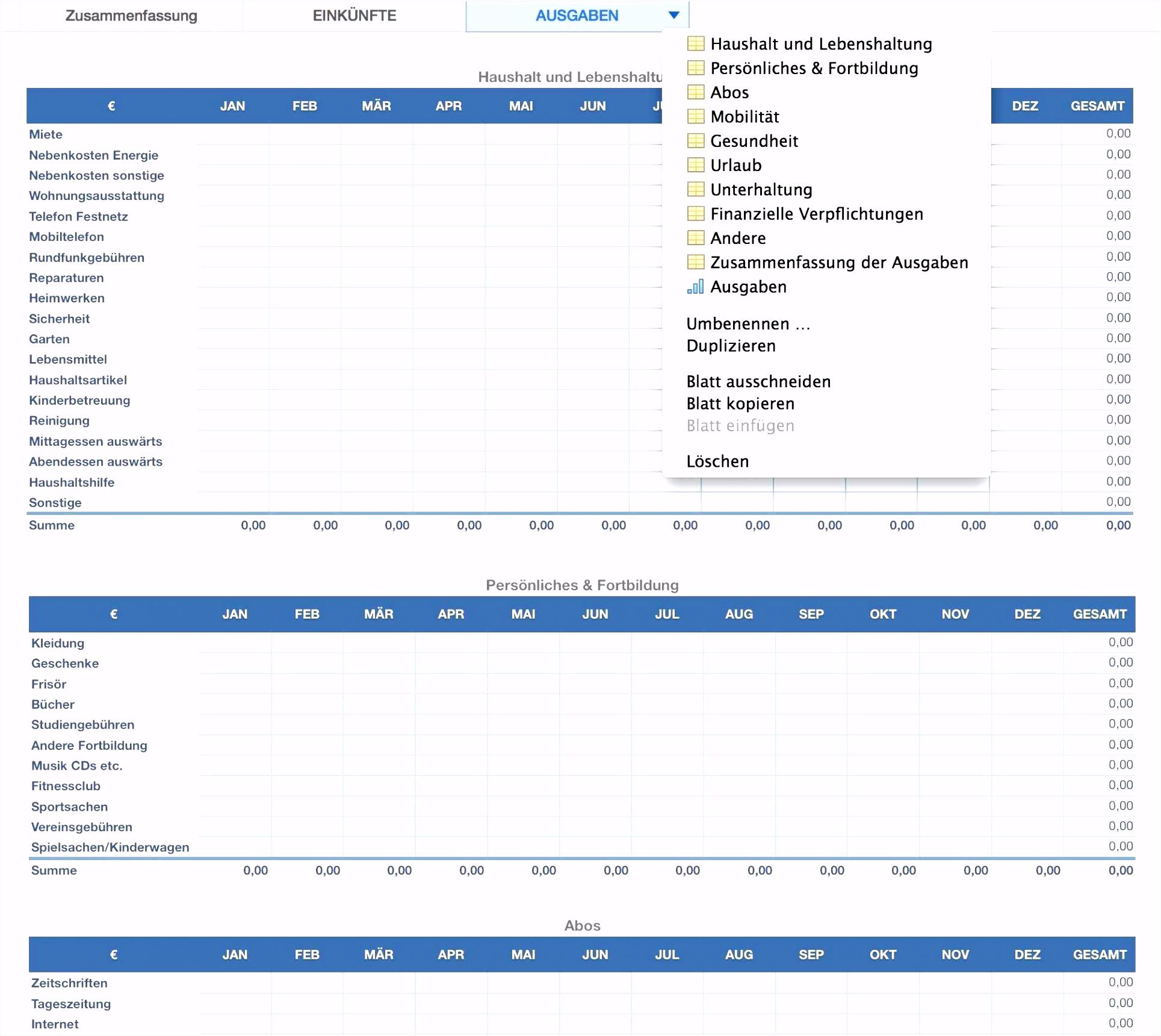 Vertragsverwaltung Excel Kostenlos