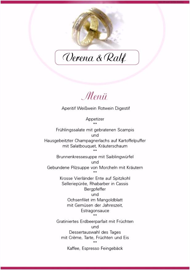 Wunderbar Von Menukarte Hochzeit Vorlage Speisekarte Word
