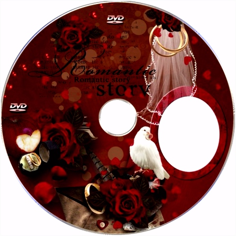 Wedding DVD Cover template free psd file
