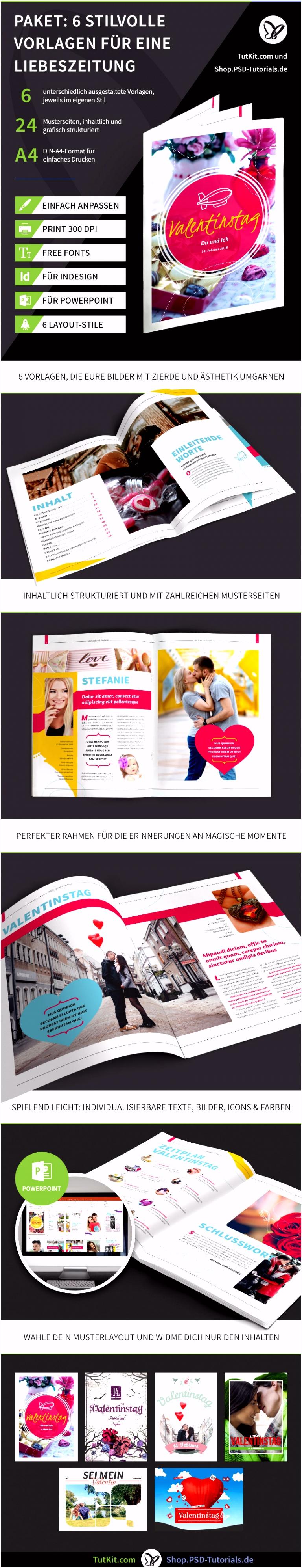 Hochzeitszeitung Vorlagen für PowerPoint & InDesign