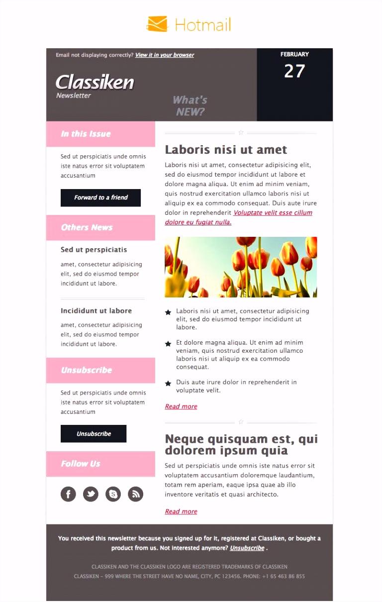 Classiken HTML Newsletter Template E Mail Templates