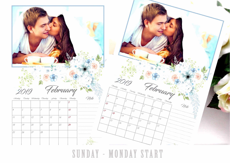 2019 Calendar Template 12x18 Calendar shop Template
