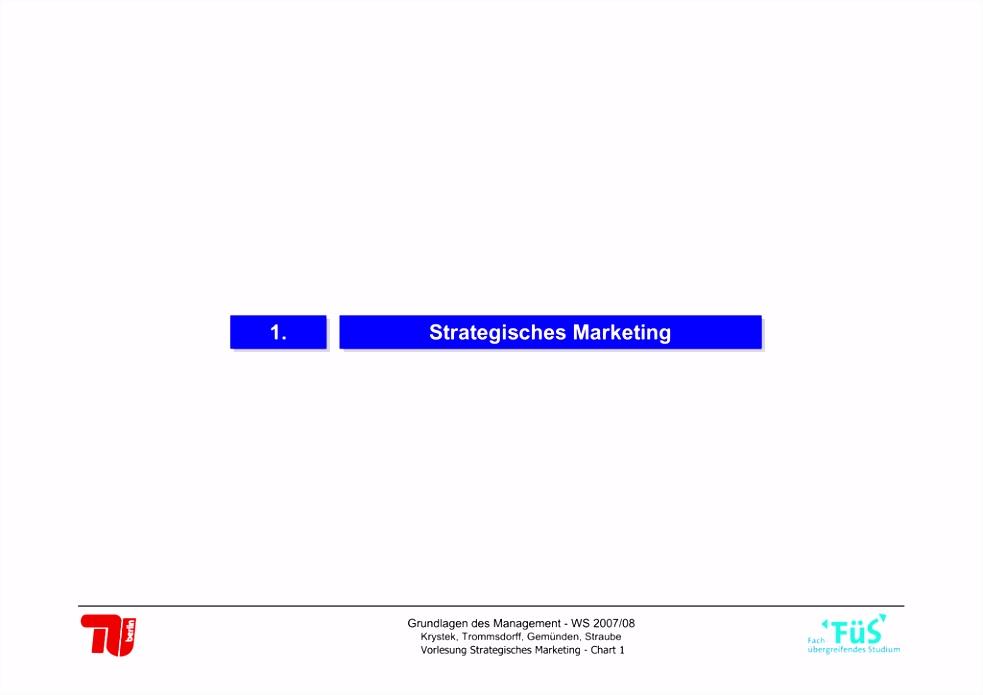 strategisches Marketing