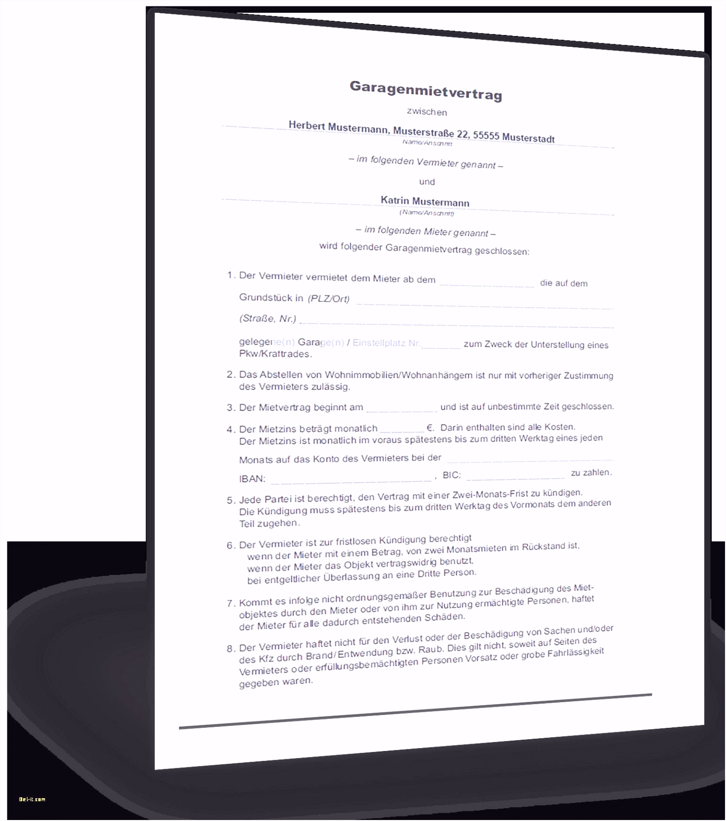 Kündigung Mietvertrag Vorlage Kostenlos Pdf Best
