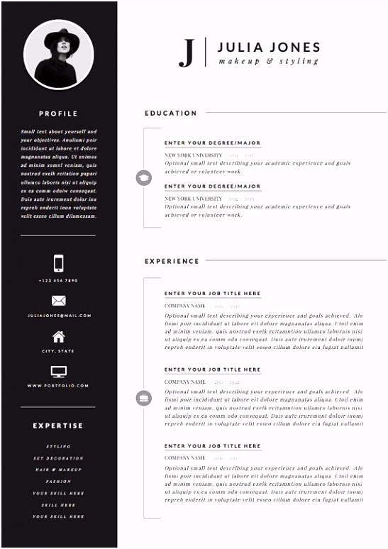 Professional Resume Template & Cover Letter Icon Set for Microsoft