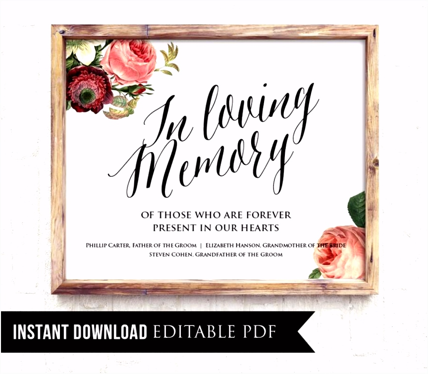 In Loving Memory Template Free Solutionet