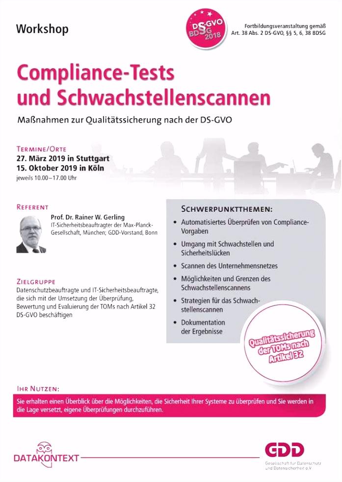 Datenschutz und Betriebsrat unter der DS GVO Seminare