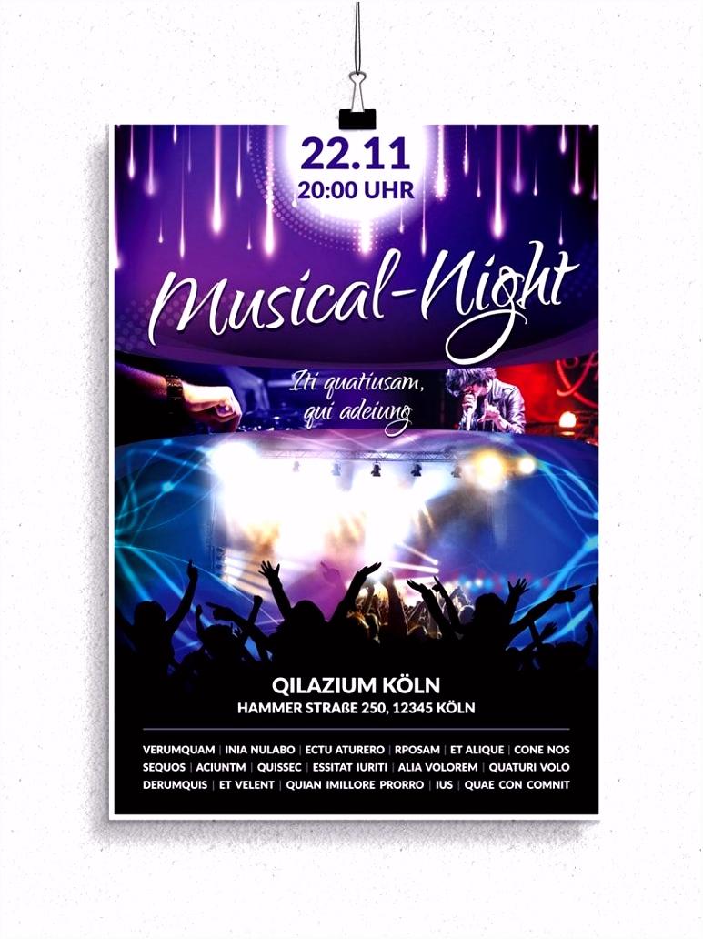 Flyer Vorlagen für Konzerte Discos und Musicals Work