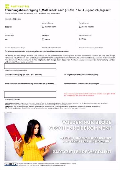 Muttizettel Vorlage und PDF Download Partyzettel