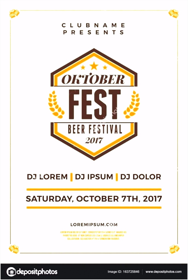 Modern Poster Template Free Vector Oktoberfest Flyer Download