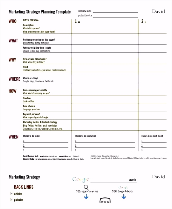 Best Marketing Strategy Plan Template In Word Campaign Brief Strategic