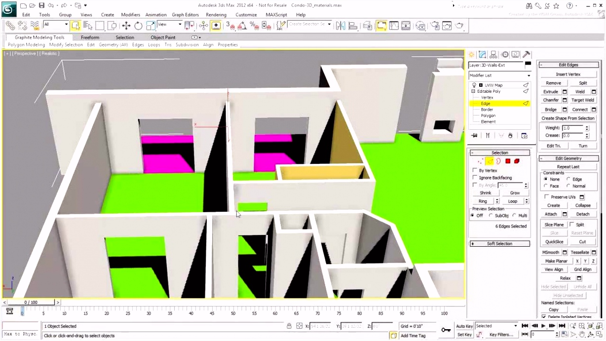 Working with AutoCAD Files in 3ds Max Part 3 Creating Materials
