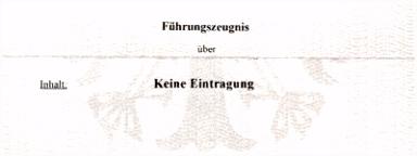 Polizeiliches Führungszeugnis – Kreisstadt Bergheim