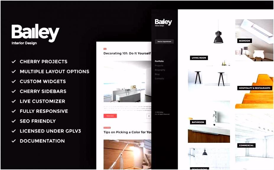 Interior Design Portfolio Templates New Amazing Unique WordPress