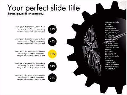 Zahnrad Zahnräder Präsentation Konzept für PowerPoint Präsentationen
