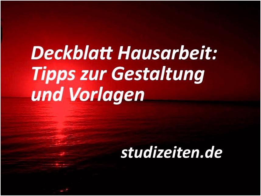 Deckblatt Hausarbeit Vorlage Word Design Praktikumsbericht