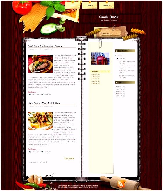 Food Recipe Blog Website Templates & Themes Free & Premium
