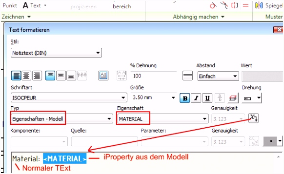 Autodesk Inventor FAQ Schriftfeld bearbeiten ein paar grundlegende