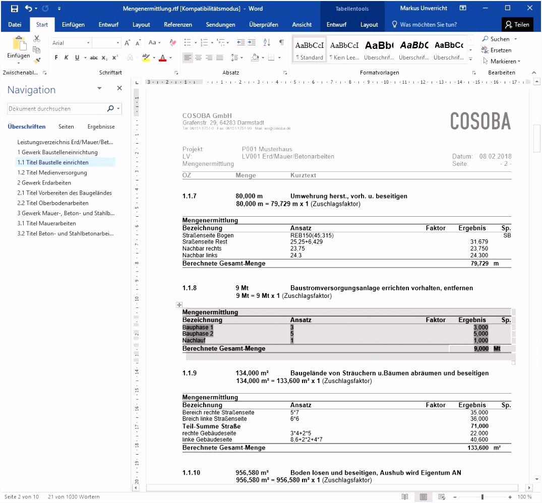 Hausbau Kosten Kalkulieren Excel Finest Excel With Hausbau Kosten