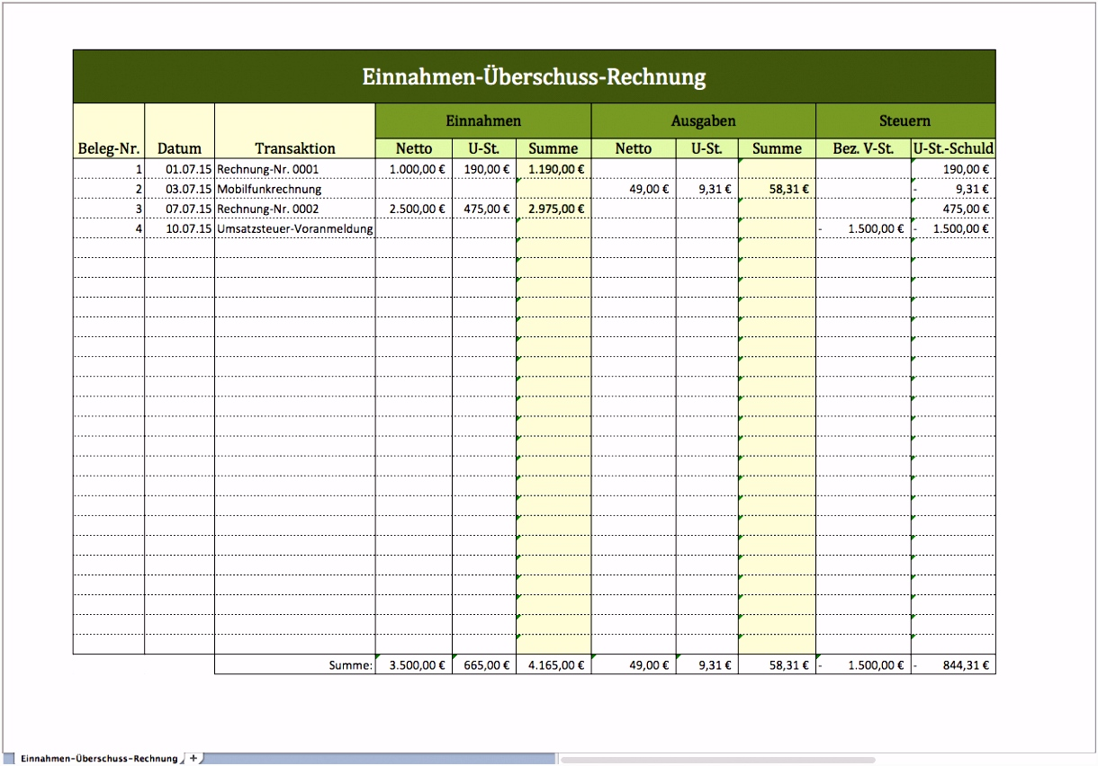 Rechnung Excel Vorlagen Fr Jeden Zweckrechnung Excel Vorlage