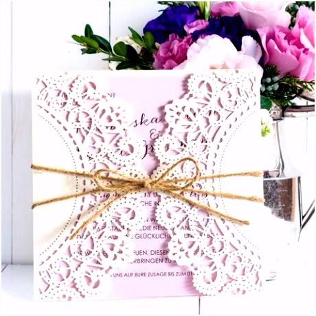 Einladungskarte Vintagezauber flieder für Hochzeit