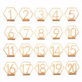 Tischnummern Set aus Holz für Hochzeit Party 1 20 Form