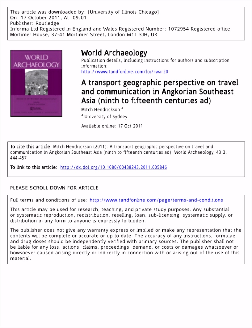 PDF A Transport Geographic Perspective on Travel and munication