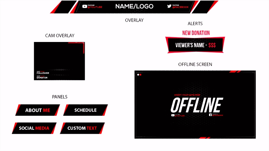 Twitch fline Banner Template Free Unique Best Twitch Overlay Free
