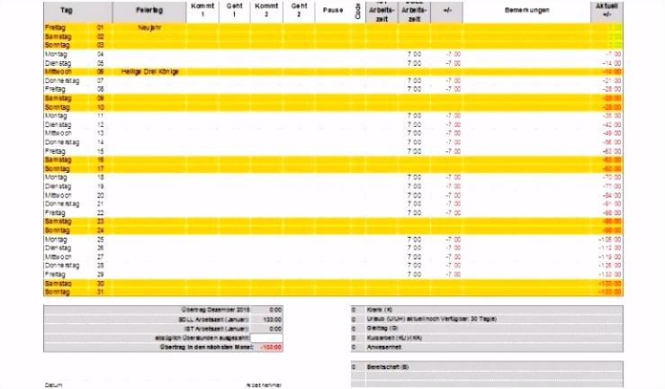 Excel Zeiterfassung Vorlage – Xcelz Download