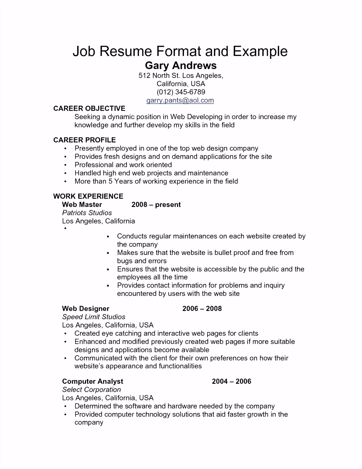 30 Professional Cv Template Free Example